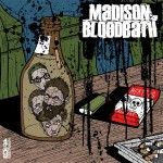"Cover for MADISON BLOODBATH/ANCHOR ARMS split 7"", released by Kiss of Death Records."