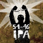"""54-46"" IPA label for Rocksteady Brewing."