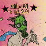 """Holiday In the Sun"" beer label for Rocksteady Brewing."