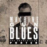 """Machine Gun Blues Porter"" beer label for Rocksteady Brewing."