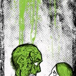 Spot color illustration for STUPEFYING STORIES zombie anthology.