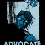 Shirt design for ADVOCATE.