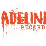 Back of double-sided shirt design for ADELINE RECORDS.